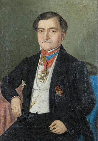 Portret Grigore Sutu, Palatul Sutu, portrait Romania.