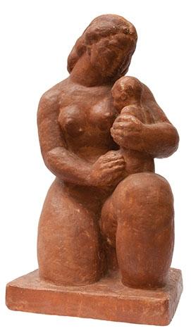 Maternitate sculptura ipsos patinat Medrea.