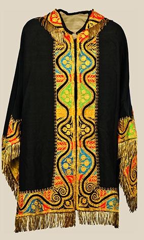 Silk cape 19th century.