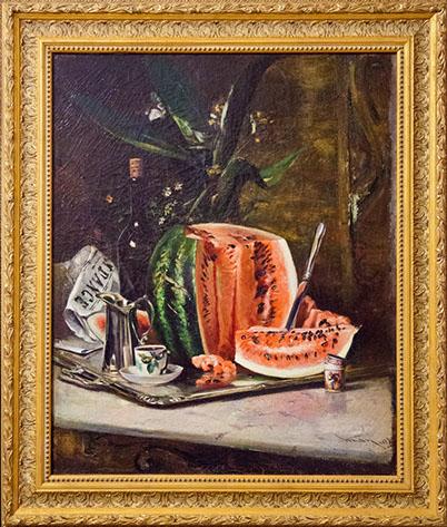 Pepene pictura natura statica Aman secol 19.