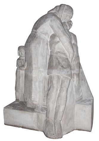 Medrea sculptura proiect de monument secol 20.
