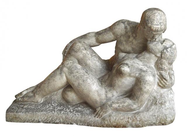 Sculptura Medrea sarutul secol 20.