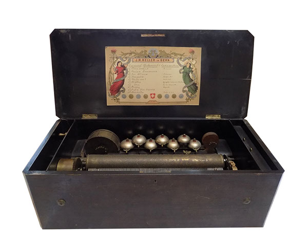 J.H. Heller music box. Cutie muzicala secol 19